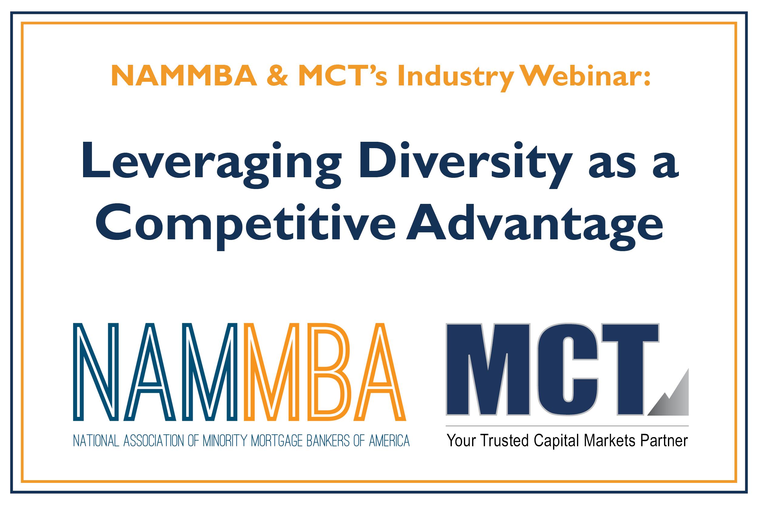 NAMMBA & MCT Webinar – Leveraging Diversity as a Competitive Advantage